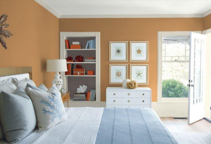 Benjamin-Moore-orange-675x462 25+ Elegant Orange Bedroom Decor Ideas