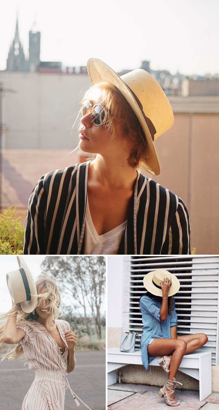 Boater-Sun-Hat1 10 Women's Hat Trends For Summer 2017