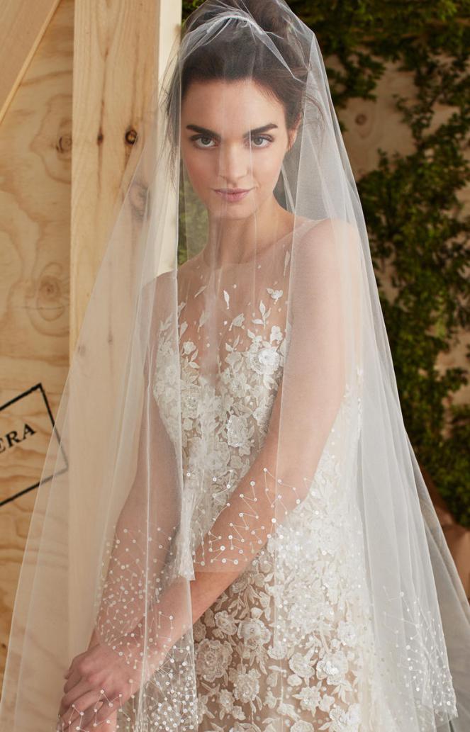 Carolina-Herera-veil +25 Wedding dresses Design Ideas for a Gorgeous-looking Bride in 2020