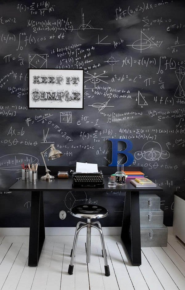 Chalkboard-Walls3 8 Office Decoration Designs For 2018
