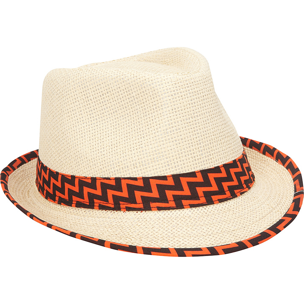 Chevron-banded-Fedora-Hat3 10 Women's Hat Trends For Summer 2017