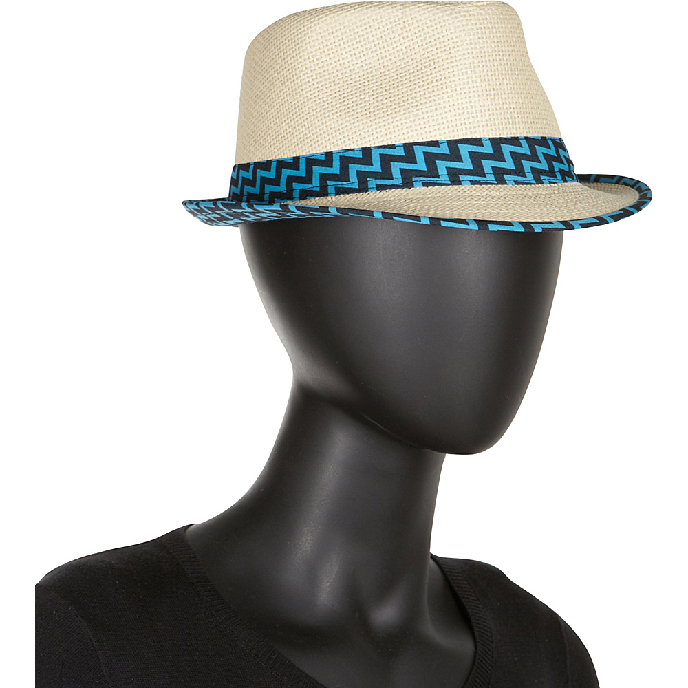 Chevron-banded-Fedora-Hat4 10 Women's Hat Trends For Summer 2017