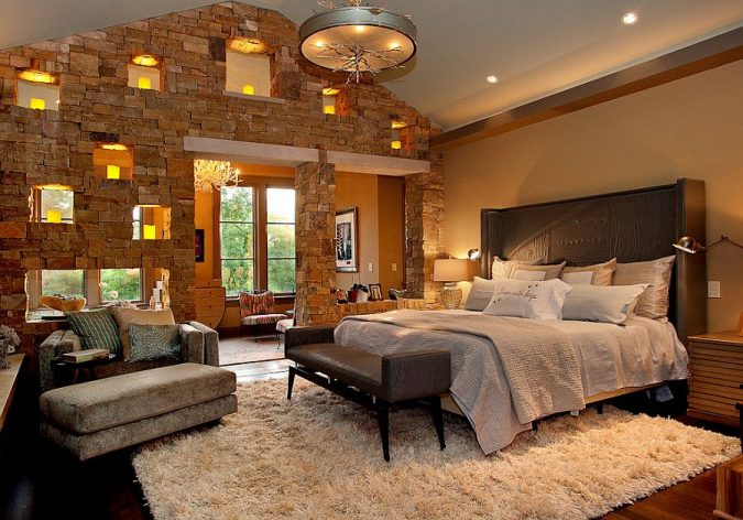 Classic-and-contemporary-styles-rolled-into-one-in-the-bedroom-675x472 Best 25+ Orange Bedroom Decor and Design Ideas in 2018
