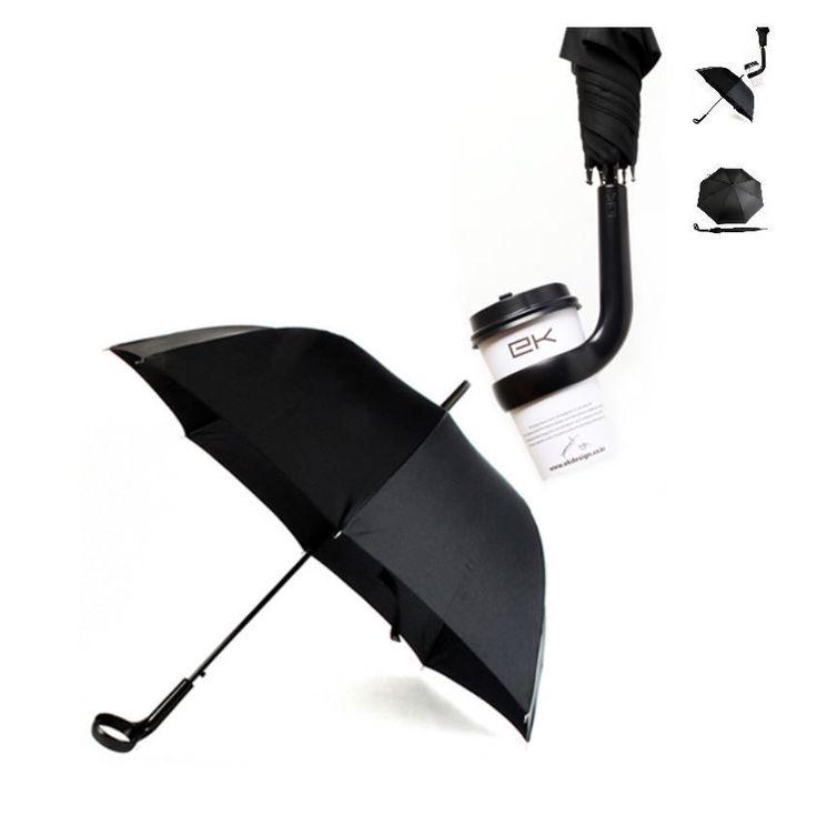 Coffee-Holder-Umbrella2 15 Unusual Umbrellas Design Trends in 2018