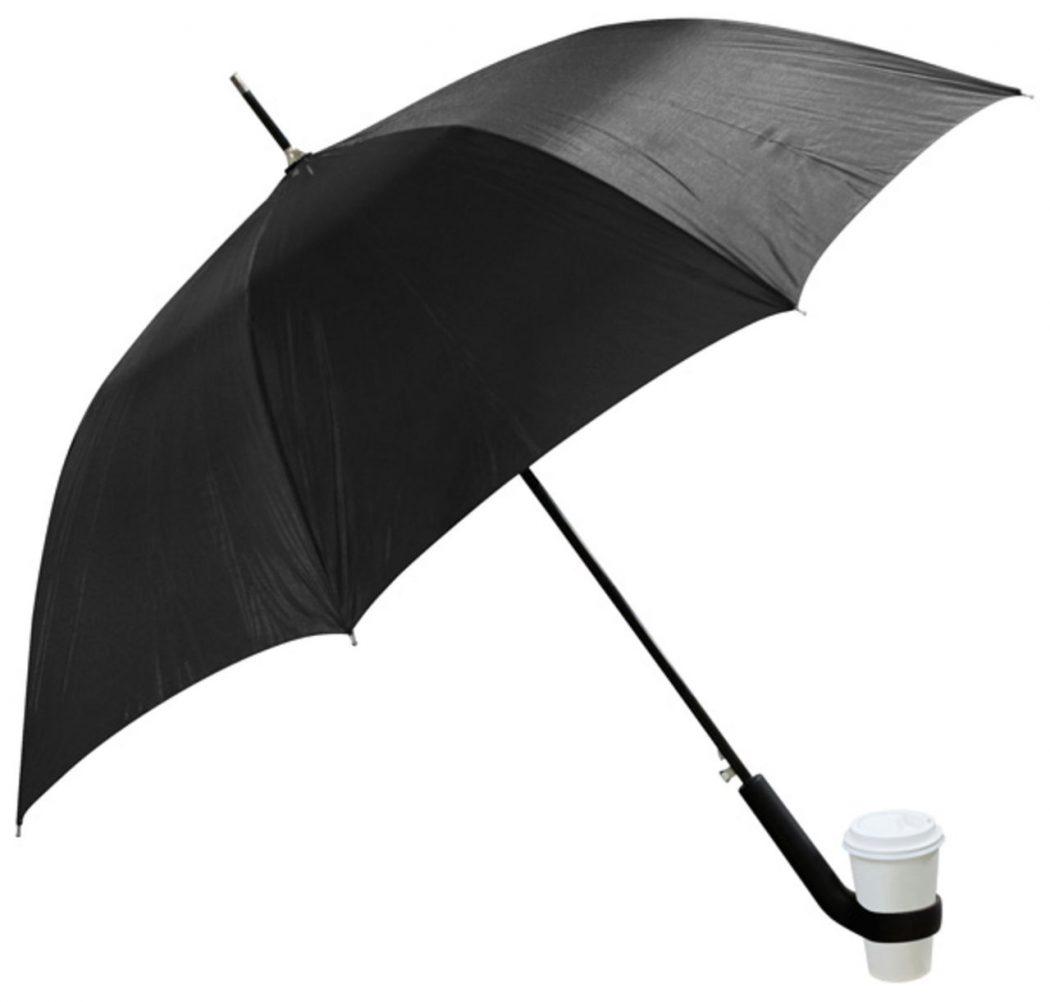 Coffee-Holder-Umbrella3 15 Unusual Umbrellas Design Trends in 2018