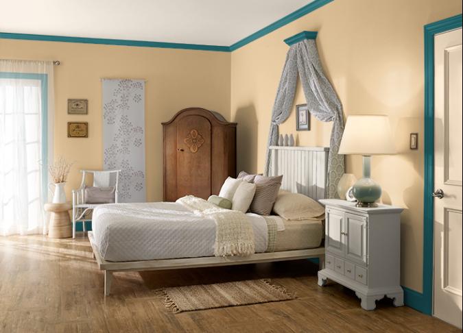 Colden-Hearted-of-behr-2017-675x486 25+ Elegant Orange Bedroom Decor Ideas
