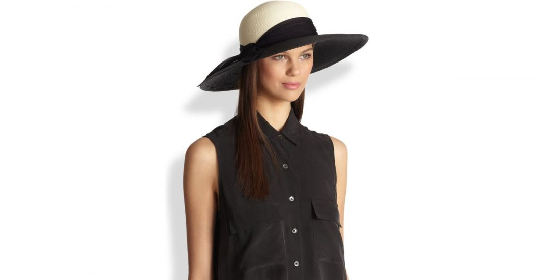 Color-Blocking-Sun-Hat3 10 Women's Hat Trends For Summer 2018