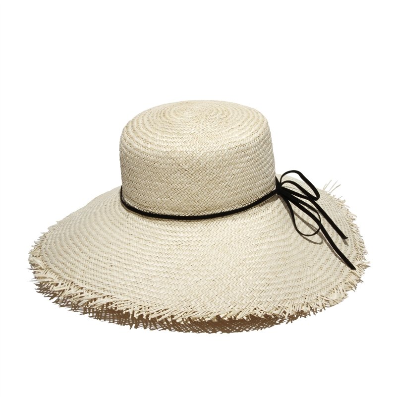 Fringed-White-Hat-With-Black-Band1 10 Women's Hat Trends For Summer 2017