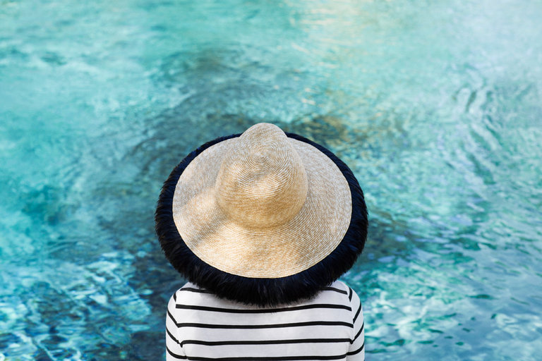 Fringed-White-Hat-With-Black-Band2 10 Women's Hat Trends For Summer 2018