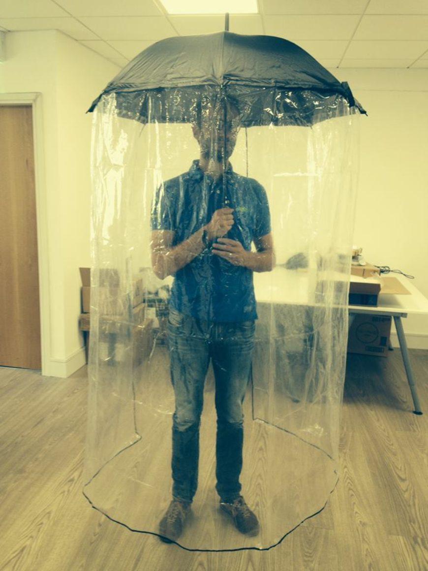 Full-Body-Umbrella1 15 Unusual Umbrellas Design Ideas