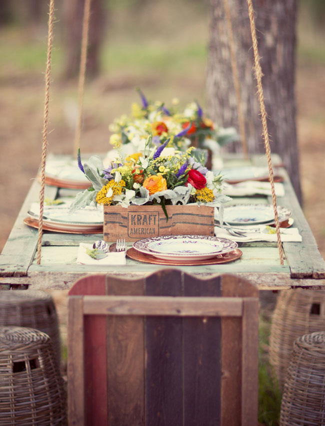 Hanging-Tables1 10 Best Outdoor Wedding Ideas in 2018