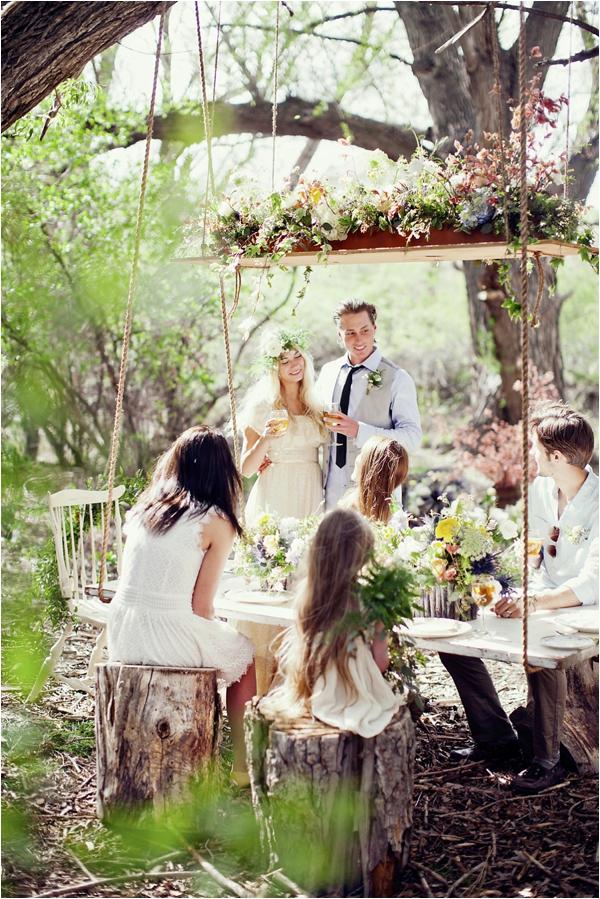 Hanging-Tables3 10 Best Outdoor Wedding Ideas in 2017