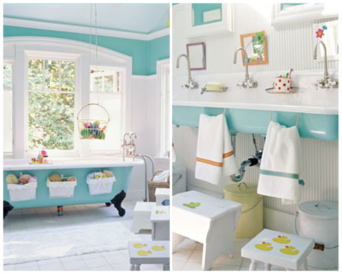 Jack-and-Jill-bathroom3-675x540 5 Bathroom Designs of kids' Dreams