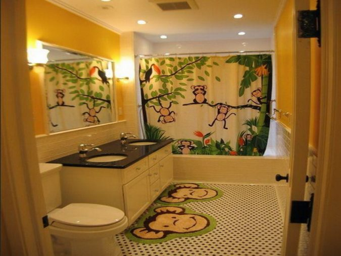 Jungle-bathroom-675x507 5 Bathroom Designs of kids' Dreams