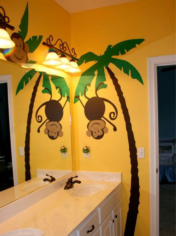 Jungle-bathroom4-1-675x903 5 Bathroom Designs of kids' Dreams