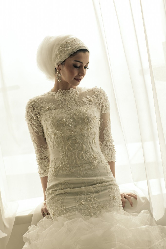 LinaWedding_Mylovelywedding_Hijab 5 Stylish Muslim Wedding Dresses Trends for 2020
