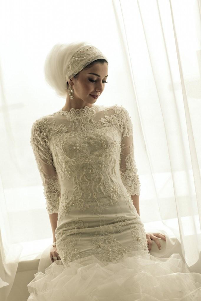 LinaWedding_Mylovelywedding_Hijab 5 Stylish Muslim Wedding Dresses Trends for 2020