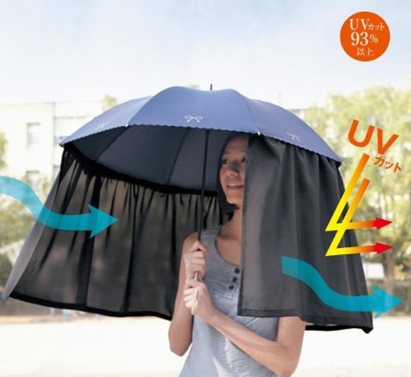Long-Curtain-Umbrella1 15 Unusual Umbrellas Design Ideas