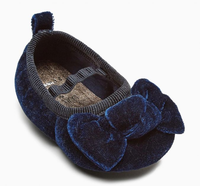 Next-Navy-Bram-ballet-shoes-675x630 20+ Adorable Baby Girls Shoes Fashion for 2020