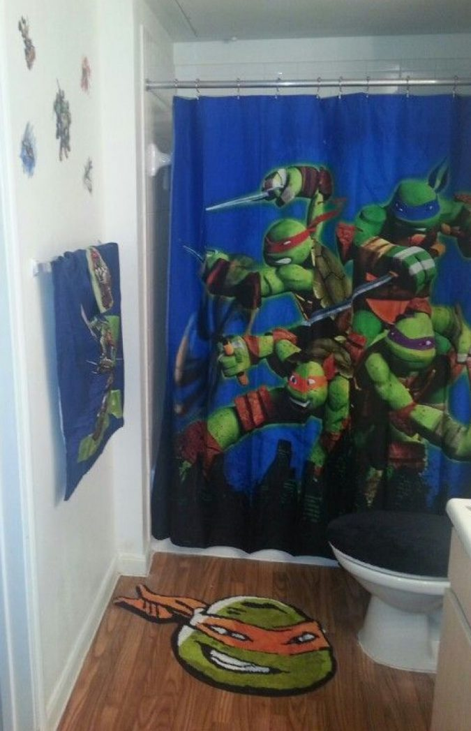 Ninja-Turtles-bathroom-rub-675x1047 25+ Cutest Kids Bathroom Rugs for 2018