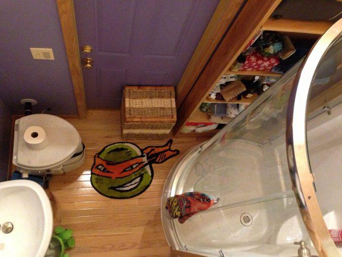 Ninja-Turtles-bathroom-rub2-675x506 25+ Cutest Kids Bathroom Rugs for 2021