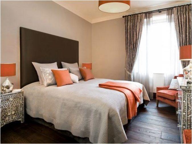 Orange-bedroom4-675x506 25+ Elegant Orange Bedroom Decor Ideas