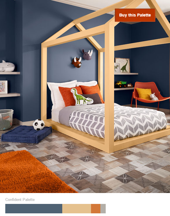 Orange-in-Behr-confident-palette-2017 25+ Orange Bedroom Decor and Design Ideas for 2017