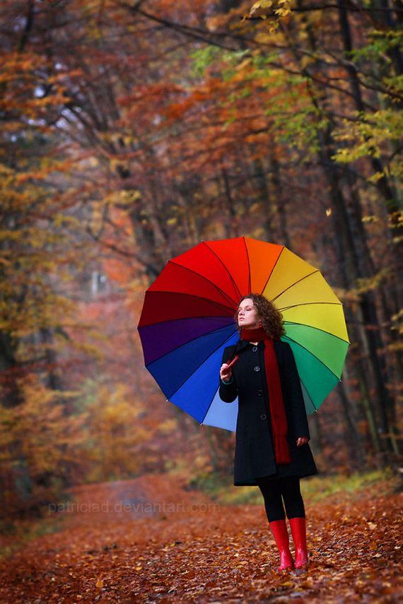 Rainbow-Umbrella2 15 Unusual Umbrellas Design Ideas