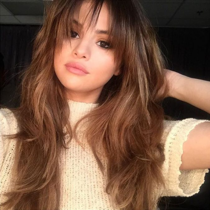 Selena-Gomez9-675x675 Trendy Fashion: 15+ Hottest Celebrities' Hairstyles Trends