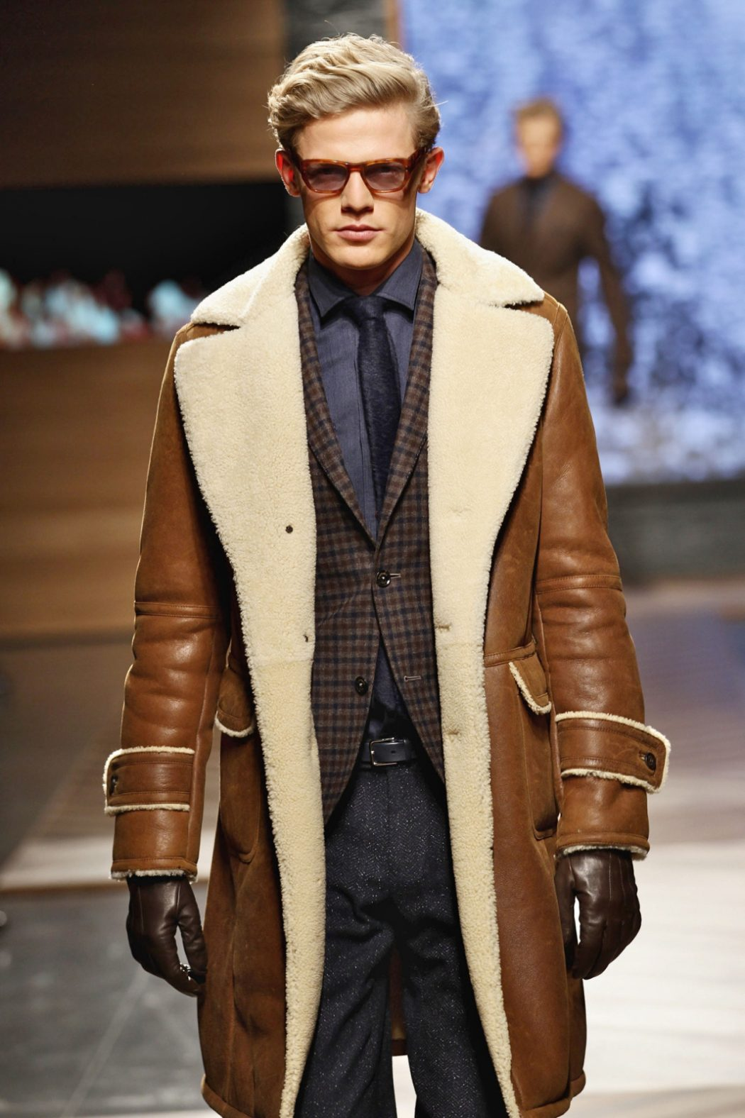 Shearling3 25+ Winter Fashion Trends for Handsome Men in 2018