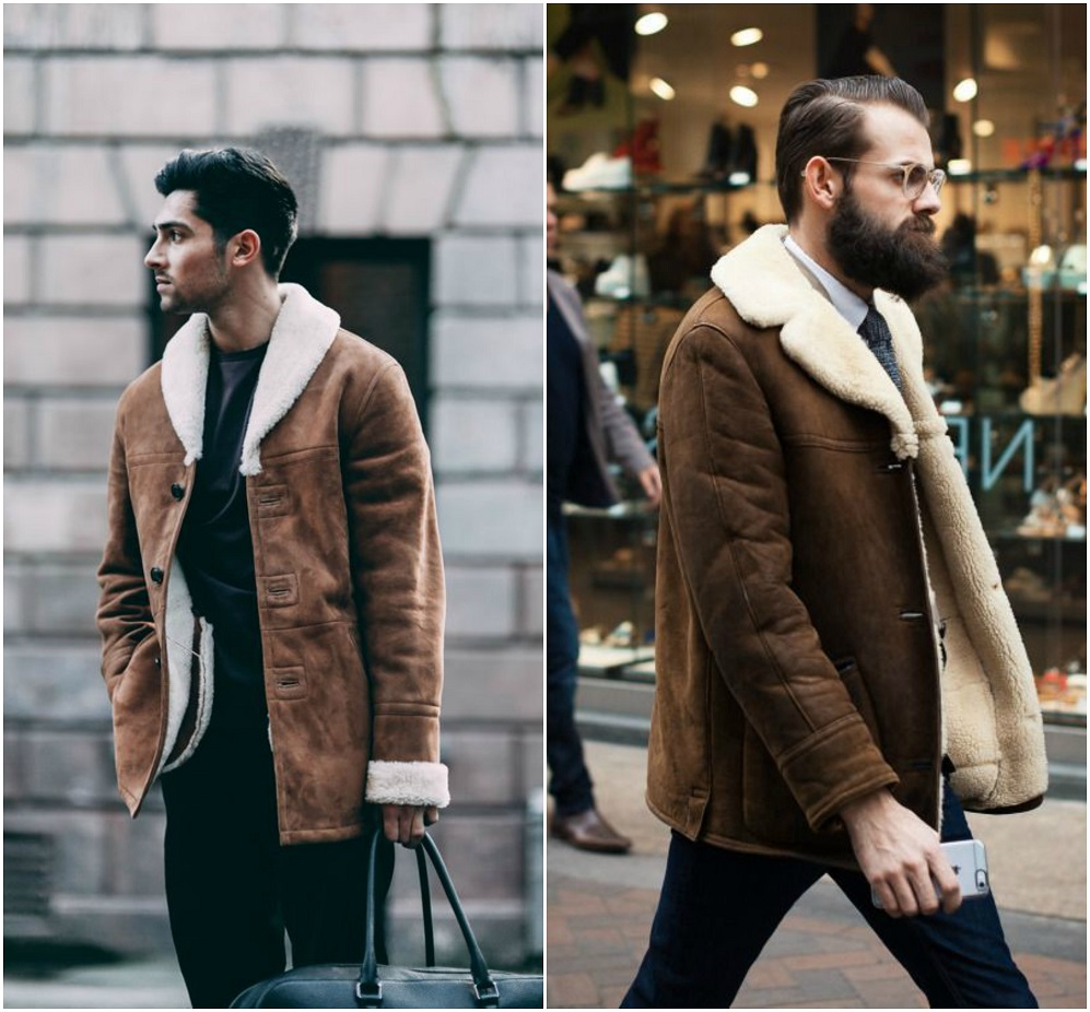 Shearling4 25+ Winter Fashion Trends for Handsome Men in 2018