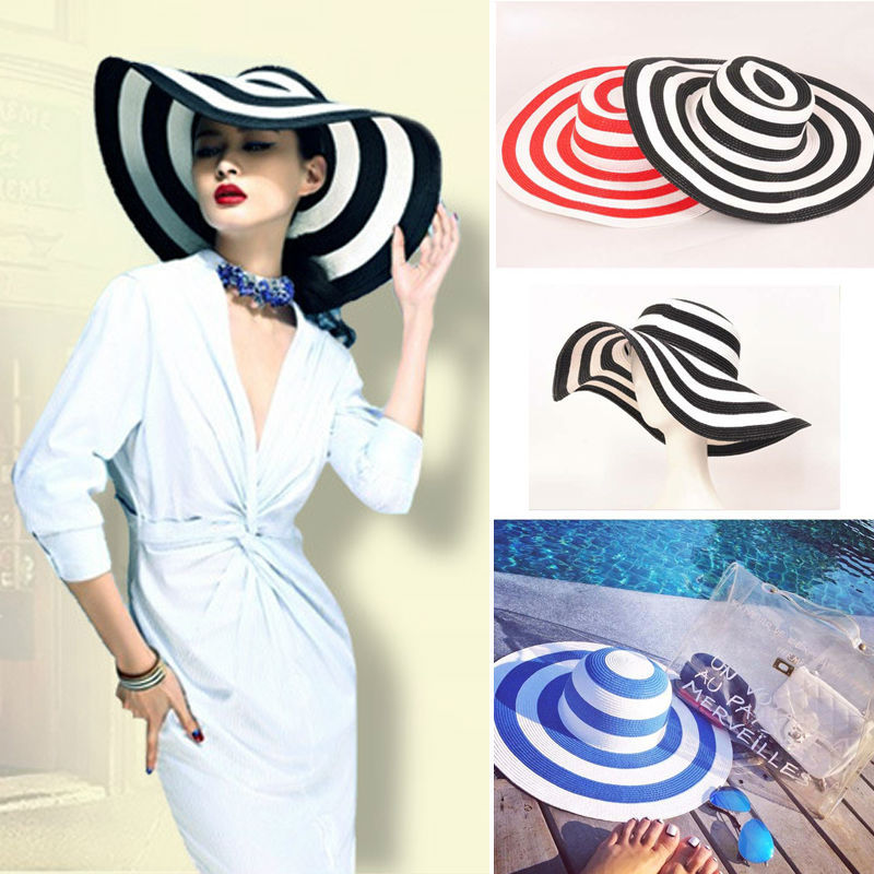 Striped-Straw-Hats1 10 Women's Hat Trends For Summer 2018