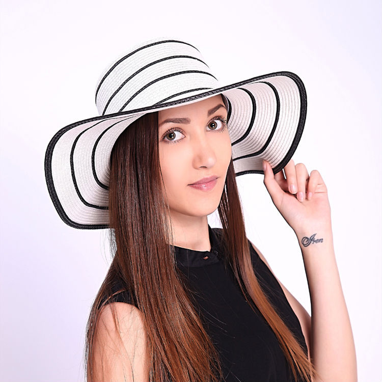 Striped-Straw-Hats2 10 Women's Hat Trends For Summer 2017