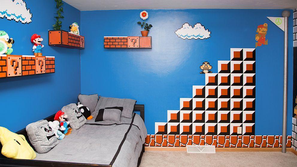 Super-Mario-Room 25+ Most Fabulous Kid's Bedrooms Design Ideas in 2020