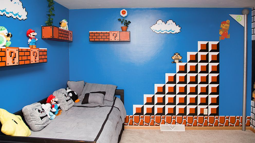 Super-Mario-Room 5 Fabulous Kid's Bedrooms Design Ideas in 2017