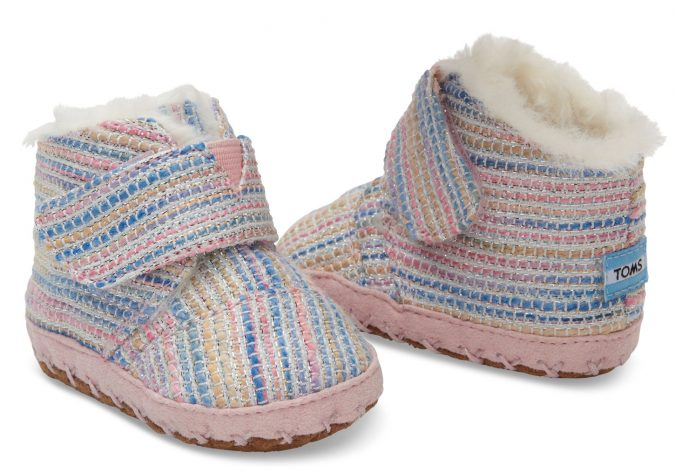 TOMS-baby-girl-shoes-Pink-Metallic-675x473 20+ Adorable Baby Girls Shoes Fashion for 2018