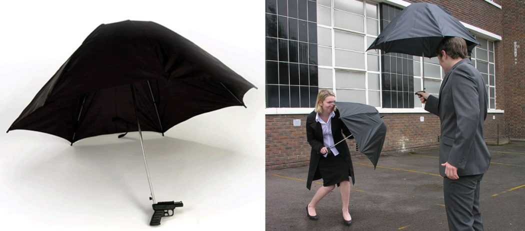 Water-Gun-Umbrella1 15 Unusual Umbrellas Design Trends in 2017