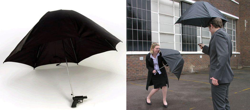 Water-Gun-Umbrella1 15 Unusual Umbrellas Design Trends in 2018