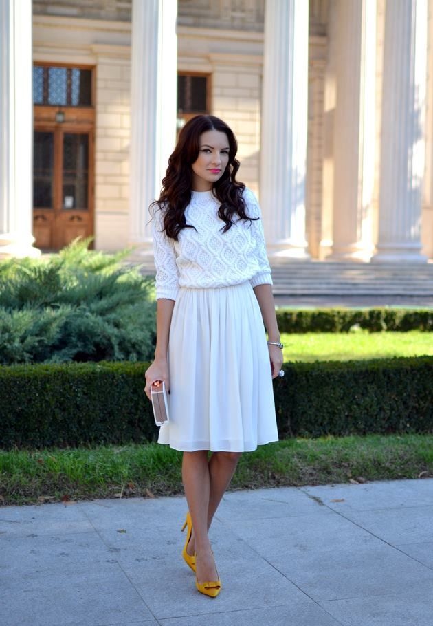 White-Blouse-and-Skirt4 20+ Hottest White Party Outfits Ideas for Women in 2020