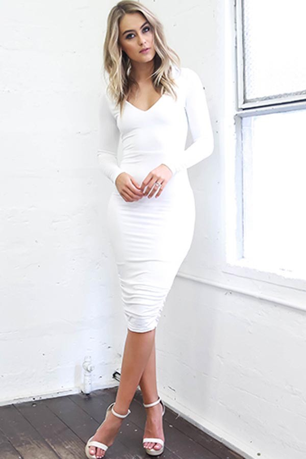 White-Dress5 20+ Hottest White Party Outfits Ideas for Women in 2020