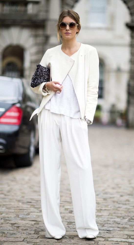 White-Trousers3 20+ White Party Outfits Ideas for Women in 2018