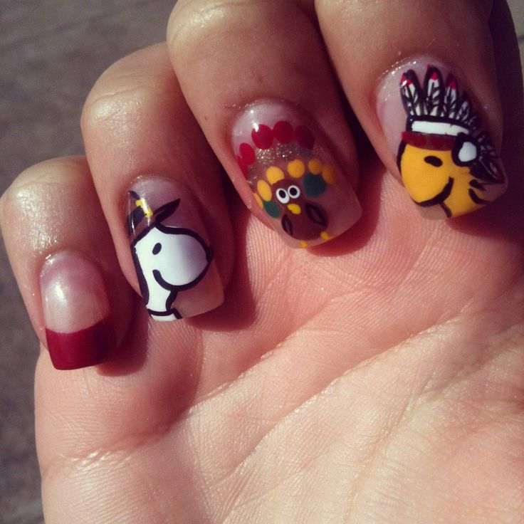 a96128120b0558fd347ee55c66d6ab58 10 Thanksgiving Nail Art Design To Try