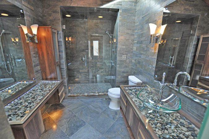 bathroom-with-glass-sink-675x449 Top 10 Modern Bathroom Sink Design Ideas