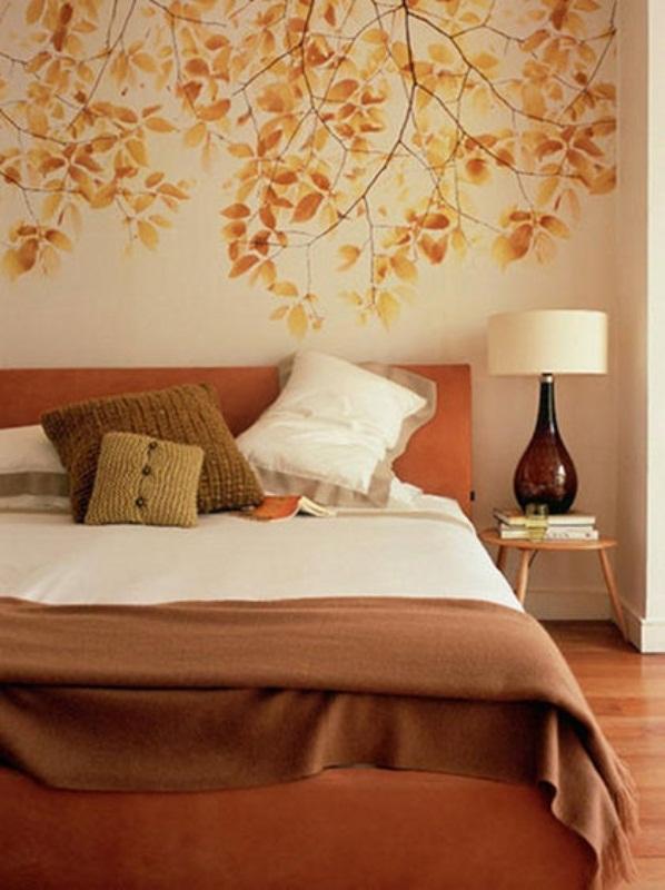 bedroom-with-original-idea 25+ Elegant Orange Bedroom Decor Ideas