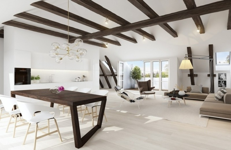 ceiling-beams-10 15 Newest Home Decoration Trends You Have to Know for 2017