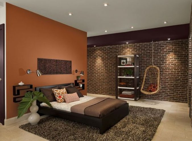dark-orange-paint-colors-for-bedroom-with-dark-furniture-oct.2016-675x494 Best 25+ Orange Bedroom Decor and Design Ideas in 2018