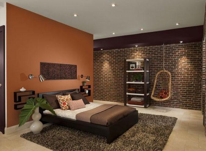 dark-orange-paint-colors-for-bedroom-with-dark-furniture-oct.2016-675x494 Best 25+ Orange Bedroom Decor and Design Ideas in 2018