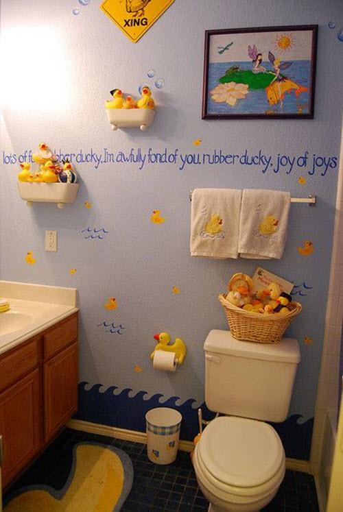 dark_blue_bathroom_floor_tiles_14 5 Bathroom Designs of kids' Dreams