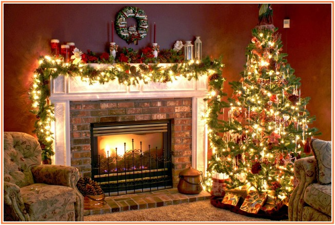 fireplace-decorations Top 10 Best Ways To Turn Your Home All Christmassy