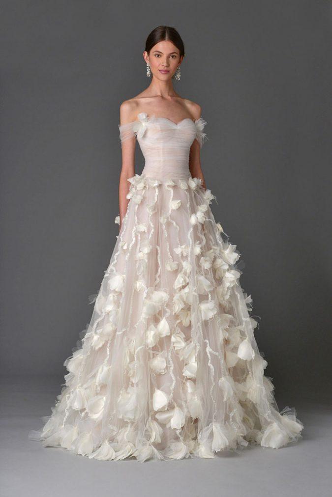 floral-wedding-dress-Carolina-Herrera-675x1012 +25 Wedding dresses Design Ideas for a Gorgeous-looking Bride in 2020